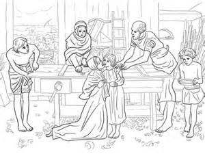 coloring page jesus cleansing temple jesus boy in the house of his parents coloring page