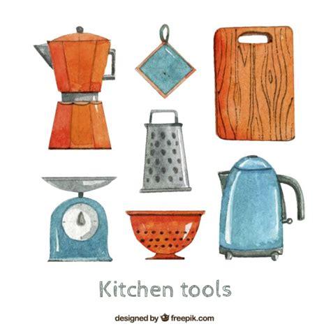 herramientas de cocina herramientas de cocina en estilo pintado a mano