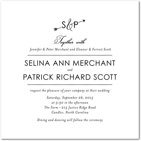 wedding invitation to parents wedding invitation wording no parents