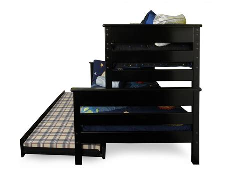 Bunk Beds Bc Trendwood Laguna Black Cherry Bunk Bed With Trundle Mathis Brothers Furniture