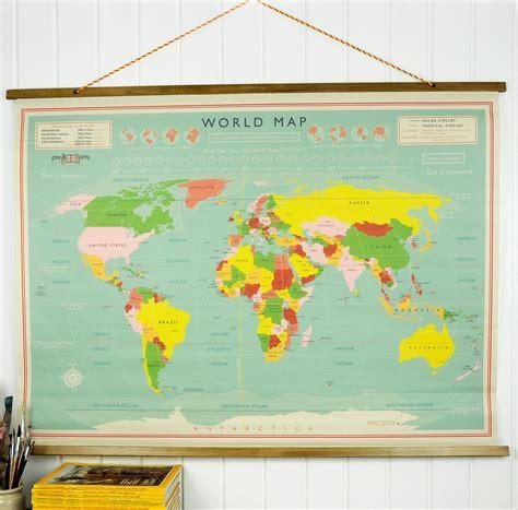 map world map world world map wall chart rex at dotcomgiftshop