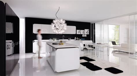 black white modern kitchen interior design ideas