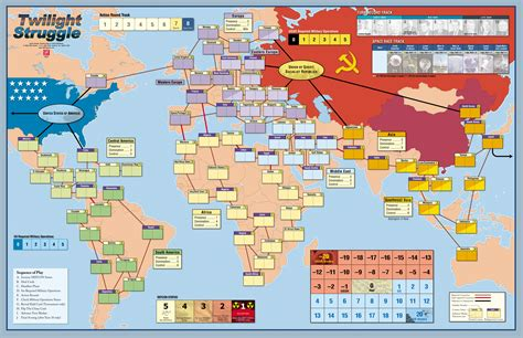 map themed games map of the board game quot twilight struggle quot a cold war