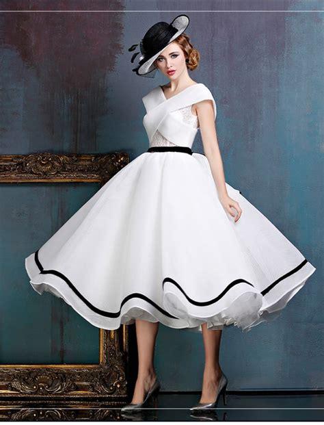 White Vintage Dress black and white midi vintage gown