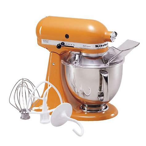 Sears Kitchen Aid by Kitchenaid Ksm150pstg Artisan 174 Series 5 Quart Tangerine Stand Mixer