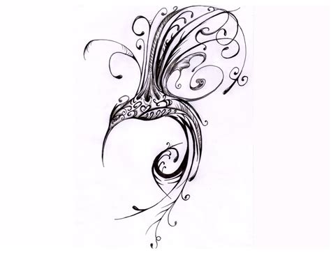 tribal lines tattoo designs hummingbird tattoos