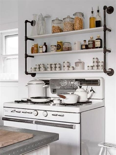 diy open shelving kitchen industrial eye candy 40 pipes home decor ideas digsdigs