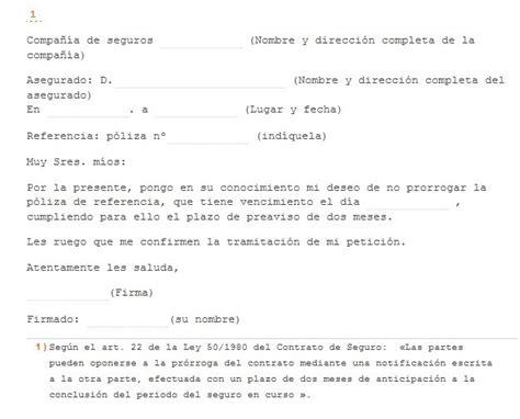 carta de cancelacion de contrato con justa causa 191 c 243 mo cancelar una p 243 liza de seguro rankia