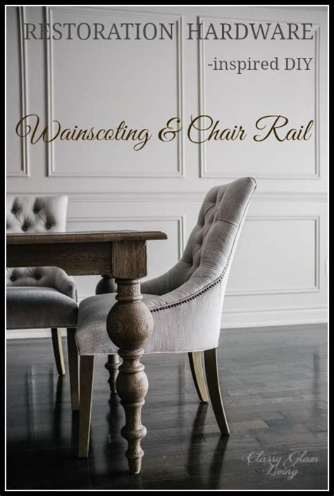 chair rail diy restoration hardware inspired diy wainscoting chair rail