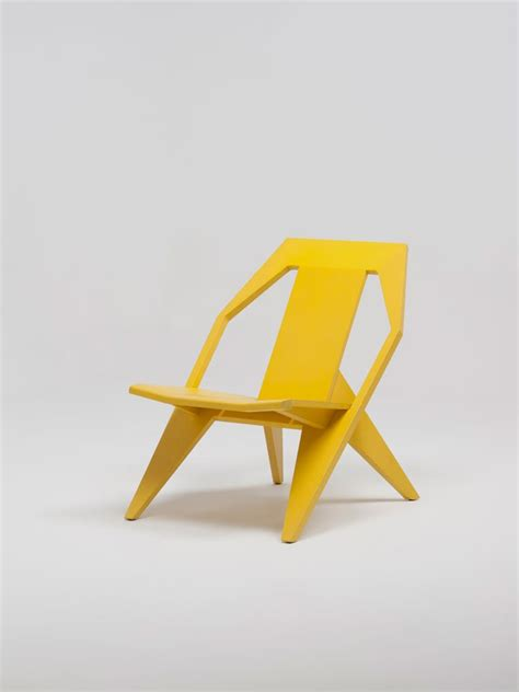 Yellow Modern Chair by Modern Wooden Chair With A Comfortably Reclined Posture