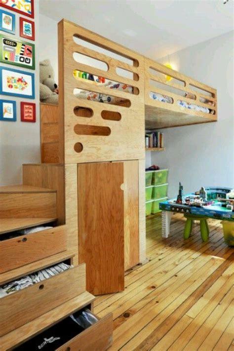 kinderzimmer junge selber bauen hochbett mit treppe tolle vorschl 228 ge