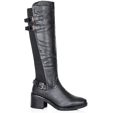 buy llana heeled stretch knee high boots black