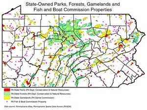 Pa State Game Lands Map by Datagram The Center For Rural Pa