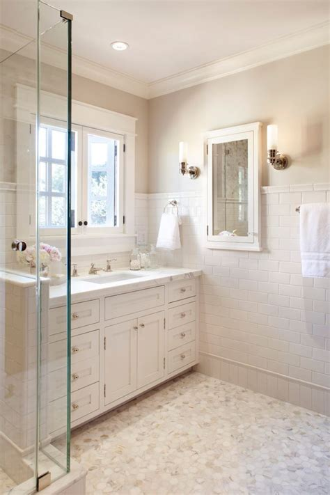 Mosaic Tiles Bathroom Ideas Tile Baseboards Bathroom Contemporary With Floating Vanity