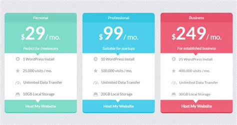 Cool Html Templates by 15 Best Free Html5 Css3 Pricing Tables Templates 2016