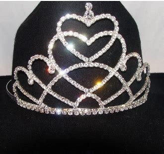 tiara boat hat quot royal hearts quot rhinestone cowboy hat tiara usa made