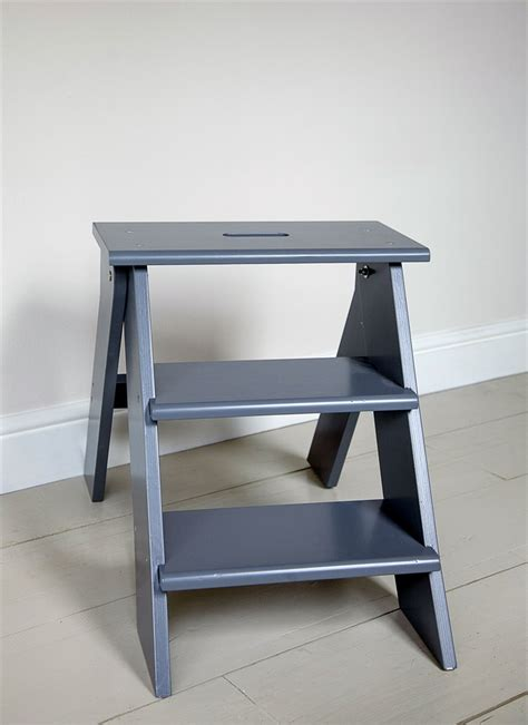 step stool for to reach folding kitchen step stool in charoal at garden trading