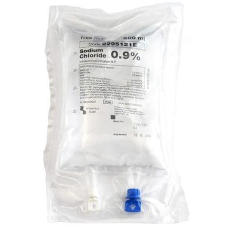 freeflex baxter bag 0 9 sodium chloride 1000ml 1l nacl iv