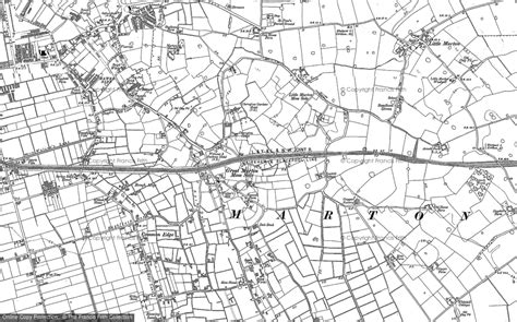 printable area old os old maps of the marton moss side area francis frith