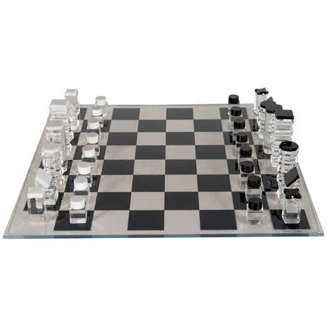 mid century modern chess set mid century modernist lucite chess set designed by rona