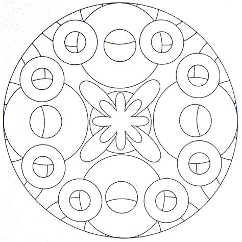 mandala coloring page circles moldovancsaba flickr