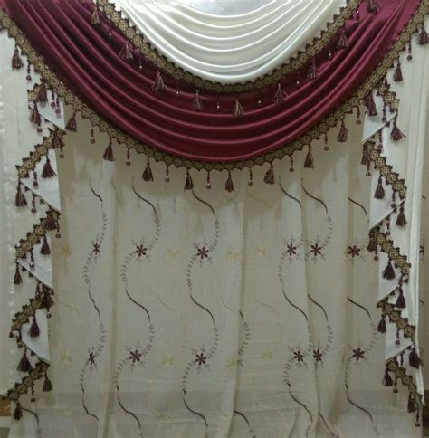 curtains with 2 different fabrics two curtains model drapery custom madetassel valances