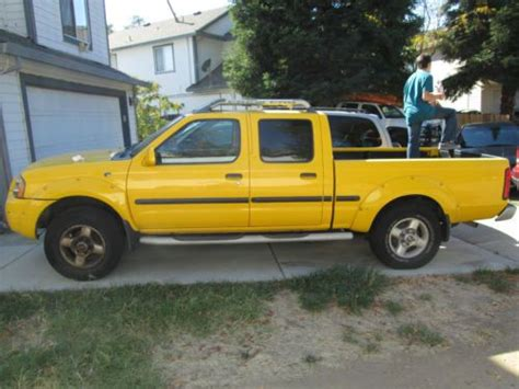 yellow nissan truck buy used used 2002 yellow nissan frontier se truck clean
