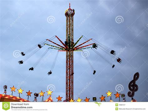 flying swing ride flying swings ride stock image image of stars swings