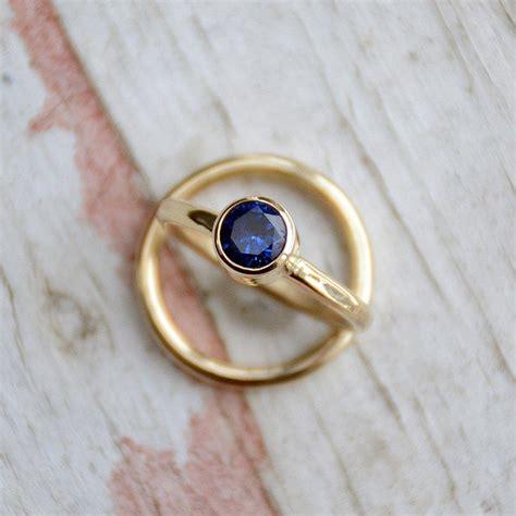 sapphire wedding ring set engagement ring gold wedding