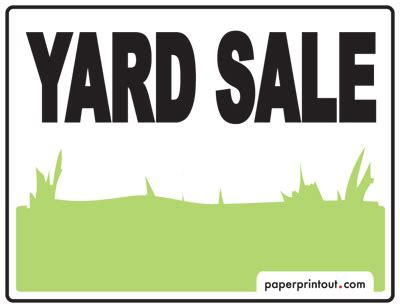 yard sale template yard sale signs a free printable sign