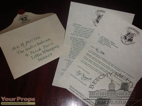 Harry Potter Acceptance Letter Replica Harry Potter And The Philosopher S Harry Potter 1st Year Hogwarts Letter The Smallest