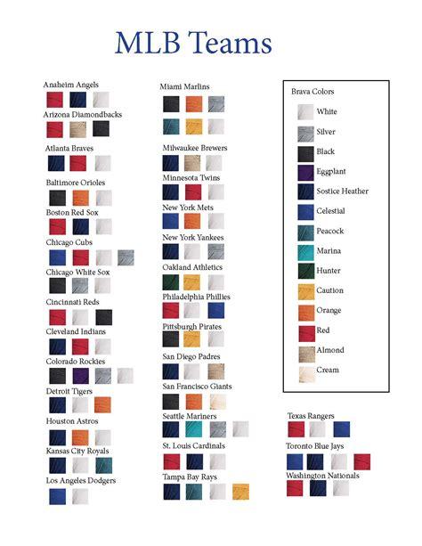 baseball team colors nfl football teams colors