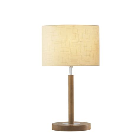 wooden light light wooden table l with cream shade elegant classic