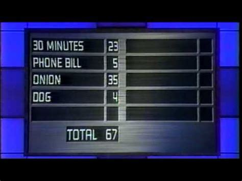 Family Feud Fast Money Win - family feud wilson vs fast money part 4 december 24 2002 youtube