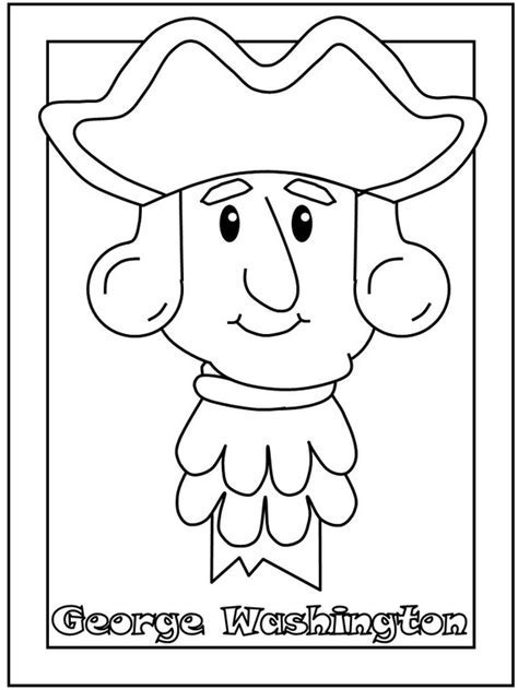 george washington coloring page for kindergarten george washington coloring pages best coloring pages for