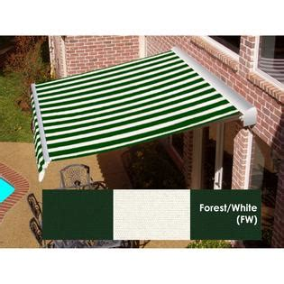 awnings sears beauty mark 174 destin 174 lx lx motorized retractable awning with hood forest white outdoor