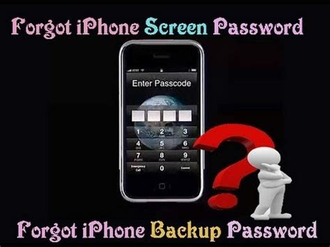 what to do if you forget your iphone password what you can do if you ve forgotten your iphone password