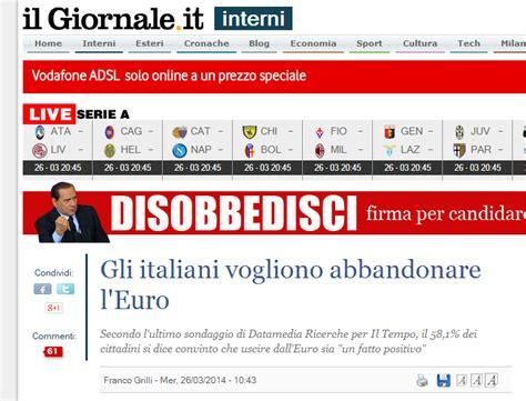 gli illuminati italiani gli italiani vogliono abbandonare l italian illuminati