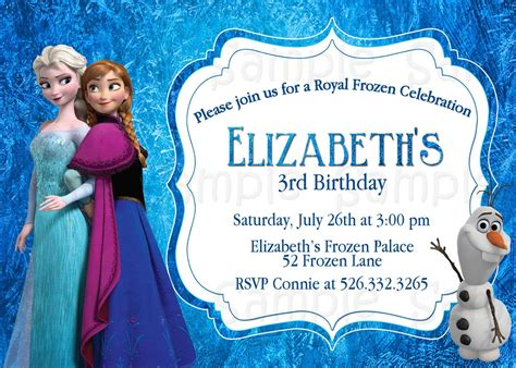 personalized frozen birthday invitations marialonghi com