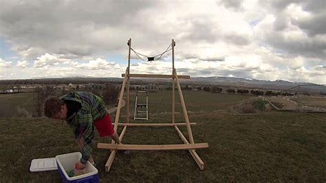 400 yard waterballoon slingshot youtube
