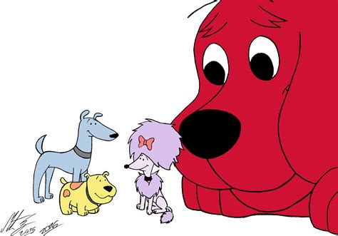 clifford big clifford the big the best friends by morteneng21 on deviantart