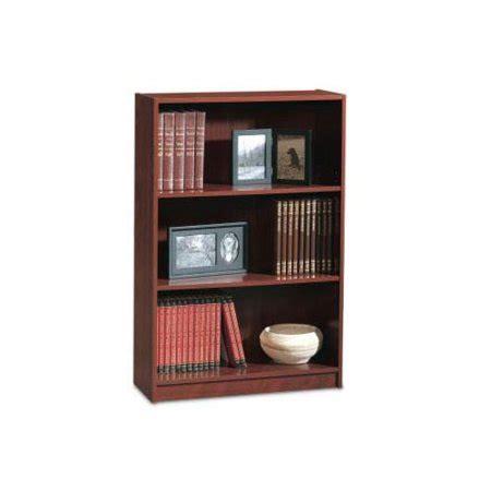 sauder bookcase cherry sauder three shelf bookcase classic cherry finish