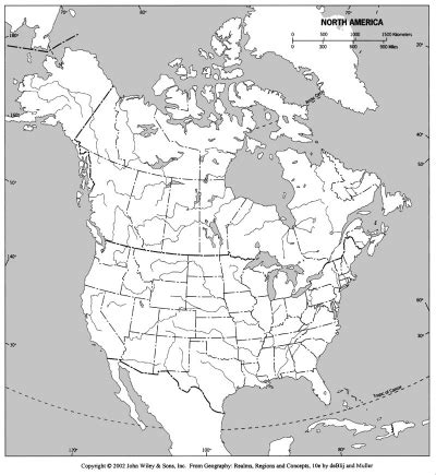 blank physical map of usa and canada blank physical map of united states and canada