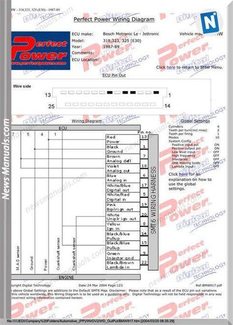 bmw ecu wiring diagrams menu