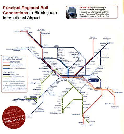 birmingham uk airport map airport rail links
