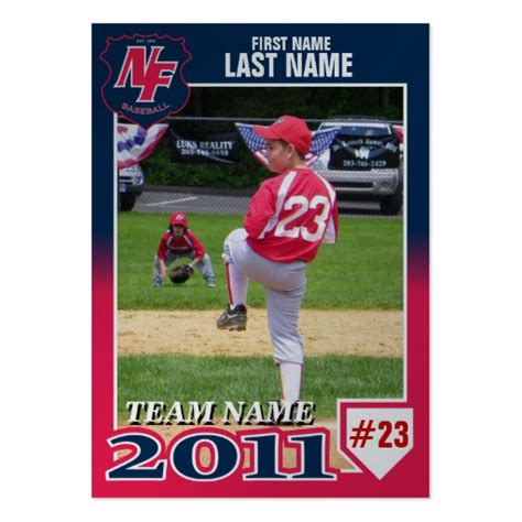 nfb 2011 baseball card large business cards pack of 100