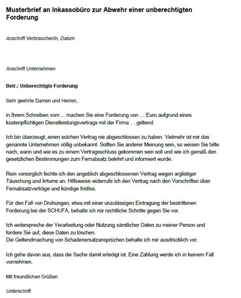 Musterbrief Verbraucherzentrale Warnung Vor Fragw 252 Rdiger Inkassopost Abc Factoring Dortmundpfalz Express Pfalz Express