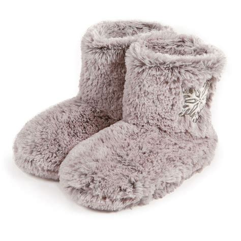fur booties slippers totes fur bootie with snowflake design slippers ebay