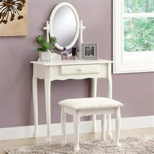 Bedroom Vanity White Shop Monarch Specialties Antique White Makeup Vanity At