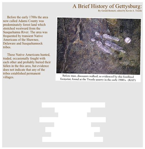 a brief history of the home post war 1945 present a brief history of gettysburg